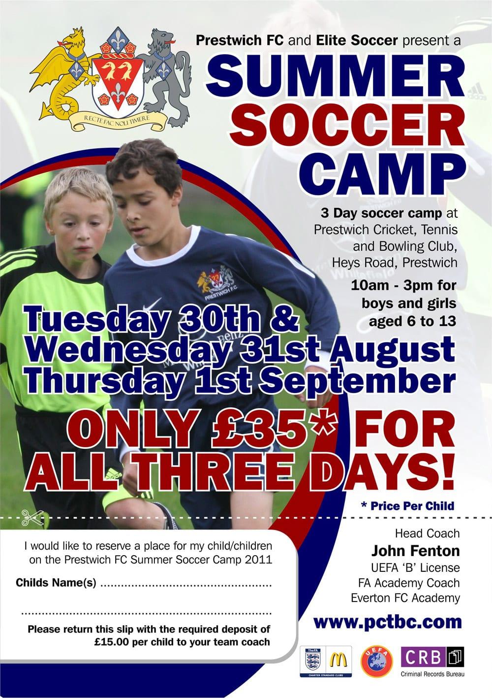 Summer Soccer Camp Prestwich Cricket Tennis Bowling Club