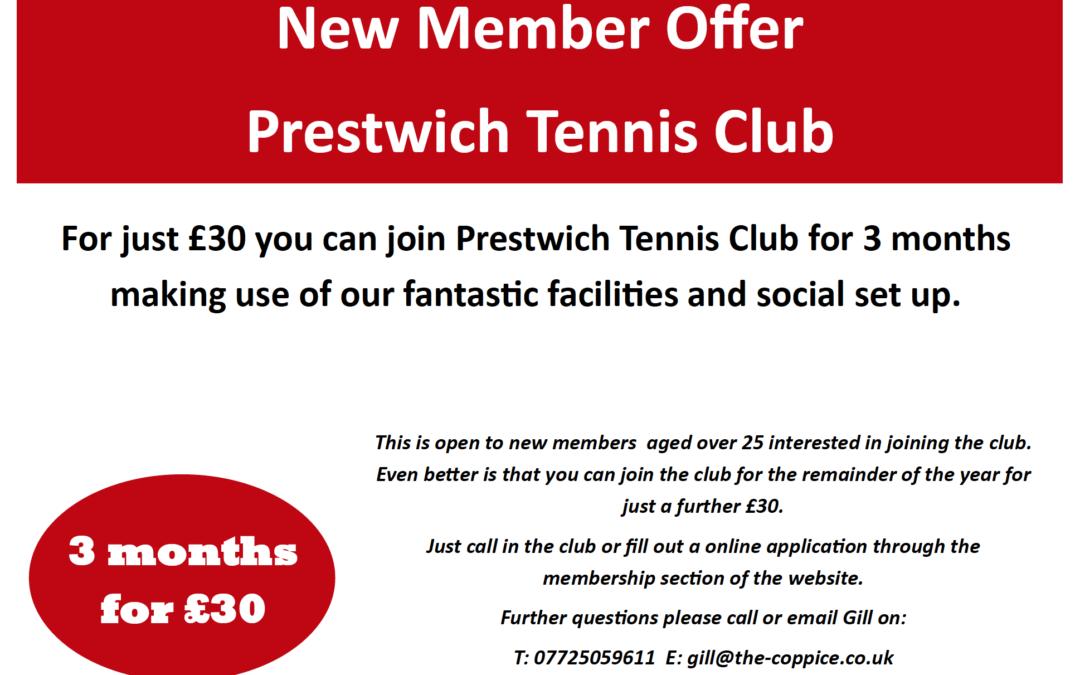New Tennis Member Offer