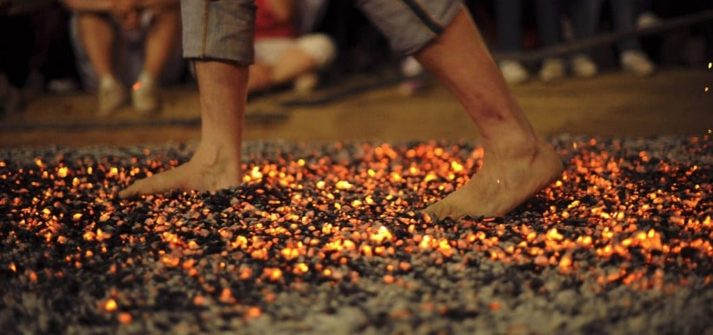 FIREWALK FEAT BOOSTS CHARITY