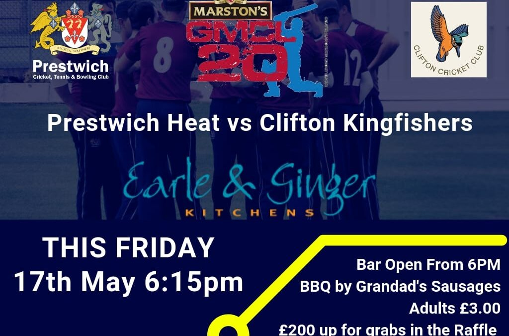 T20 CRICKET AT PCC THIS FRIDAY