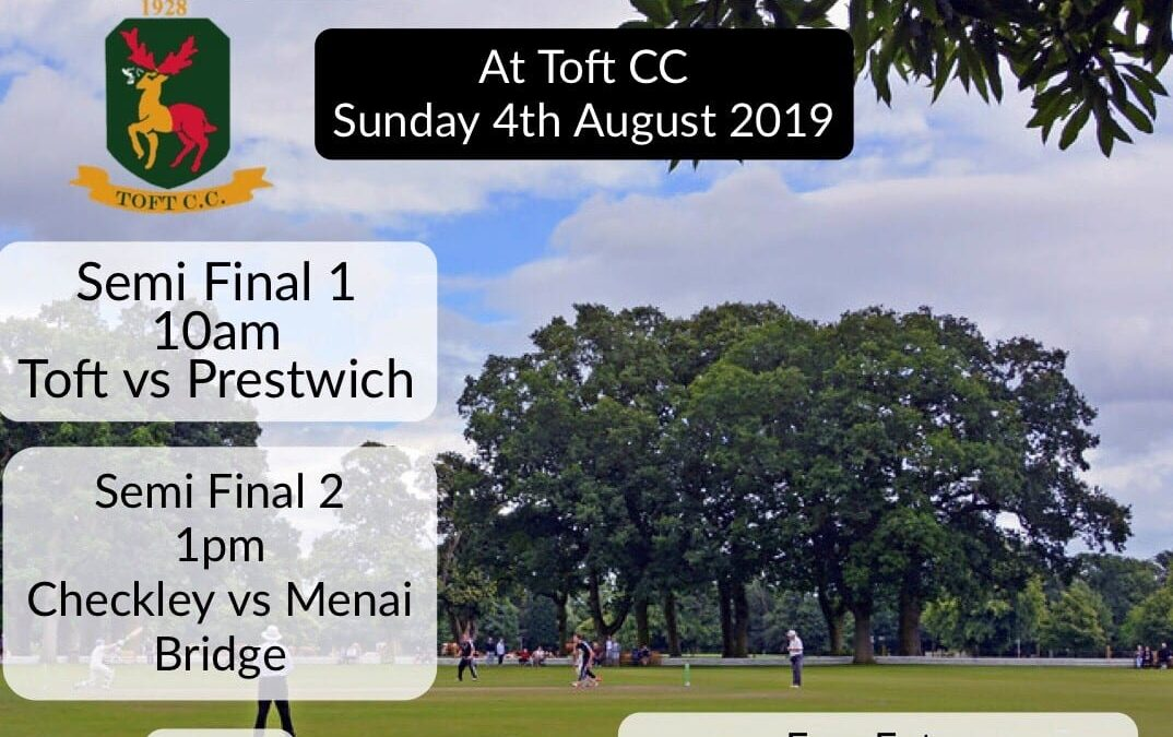 RE-ARRANGED T20 AREA FINALS DAY – THIS SUNDAY