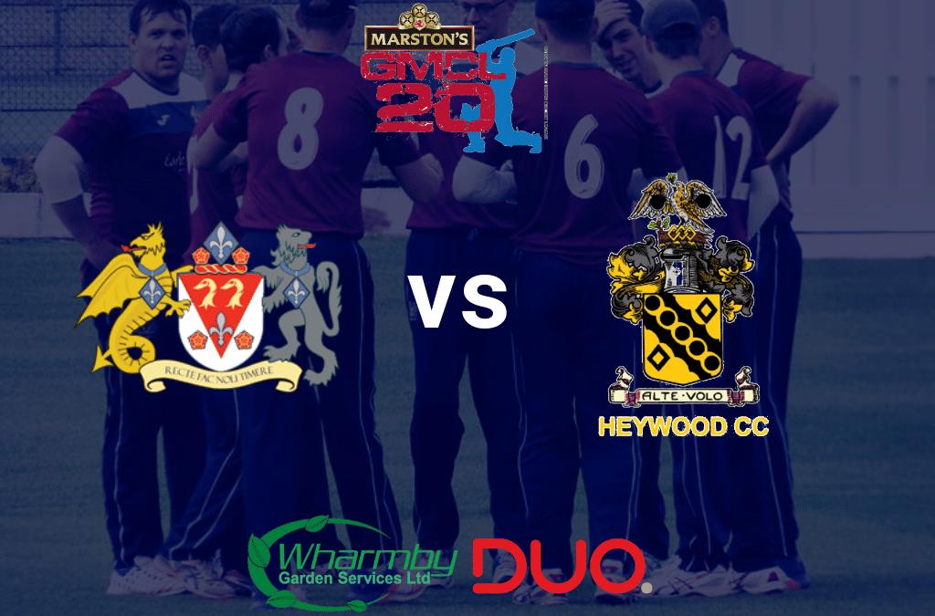 T20 Thursday 3rd June Prestwich Heat vs Heywood Monkeys