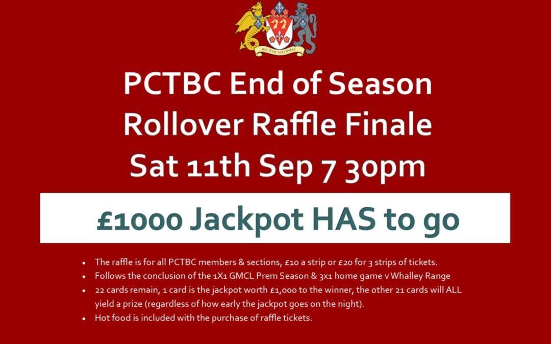 £1K Jackpot – 22 Prizes – Hot Food – Sat 11th September